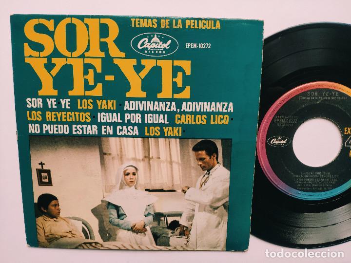 OST SOR YE-YE * EP MEXICO PS * EX * LOS YAKIS * LOS REYECITOS * CARLOS LICO * ADIVINA, ADIVINZA + 3 (Música - Discos de Vinilo - EPs - Bandas Sonoras y Actores)