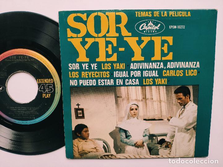 Discos de vinilo: OST SOR YE-YE * EP Mexico PS * EX * LOS YAKIS * LOS REYECITOS * CARLOS LICO * Adivina, adivinza + 3 - Foto 2 - 268968244