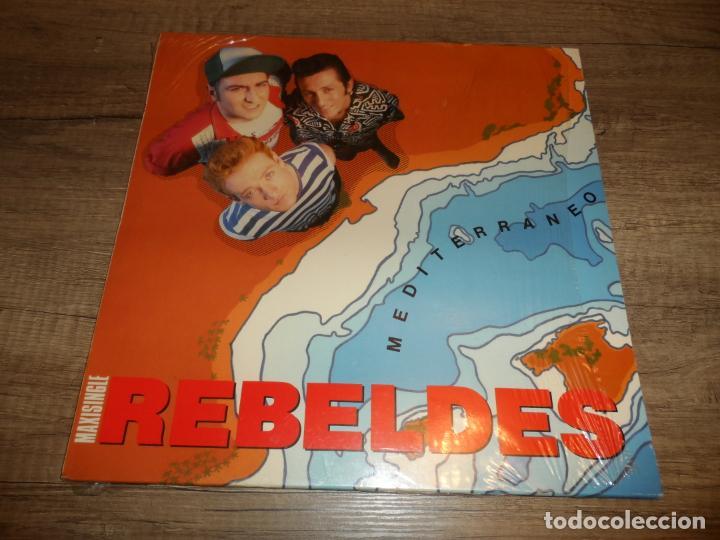 LOS REBELDES - MEDITERRANEO / HACERTE EL AMOR + PREGUNTAS Y RESPUESTAS (Música - Discos de Vinilo - Maxi Singles - Grupos Españoles de los 70 y 80)