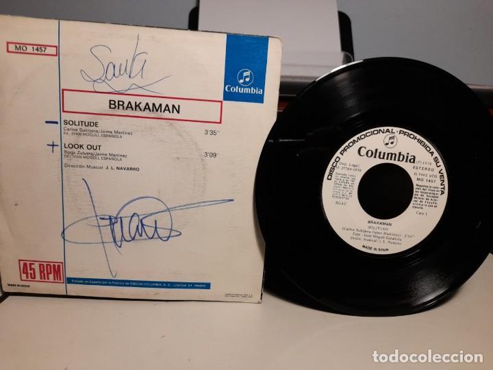 Discos de vinilo: SG BRAKAMAN : SOLITUDE ( PROMO LABEL BLANCO, INCLUYE HOJA PROMOCIONAL ) - Foto 2 - 268974464