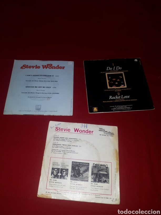 Discos de vinilo: Lote 3 singles STEVIE WONDER - Foto 2 - 268977734