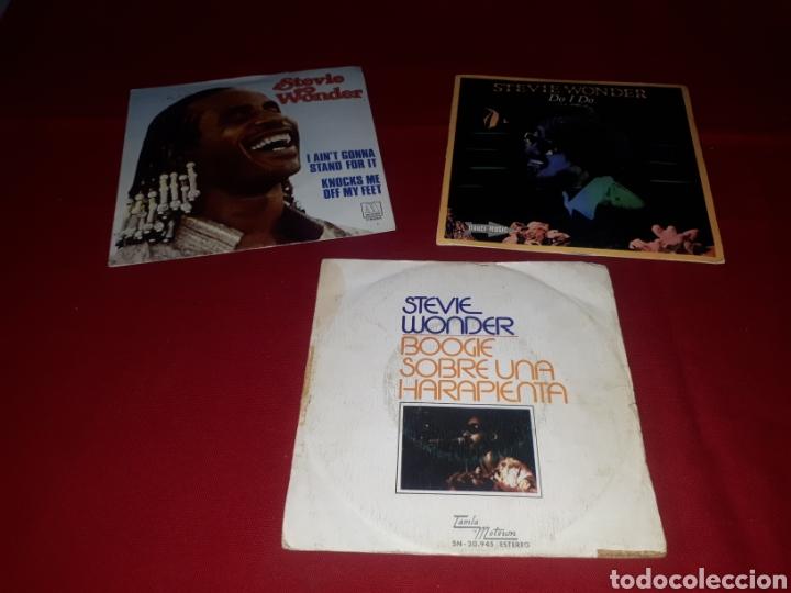 LOTE 3 SINGLES STEVIE WONDER (Música - Discos - Singles Vinilo - Funk, Soul y Black Music)