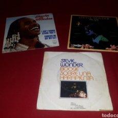 Discos de vinilo: LOTE 3 SINGLES STEVIE WONDER. Lote 268977734