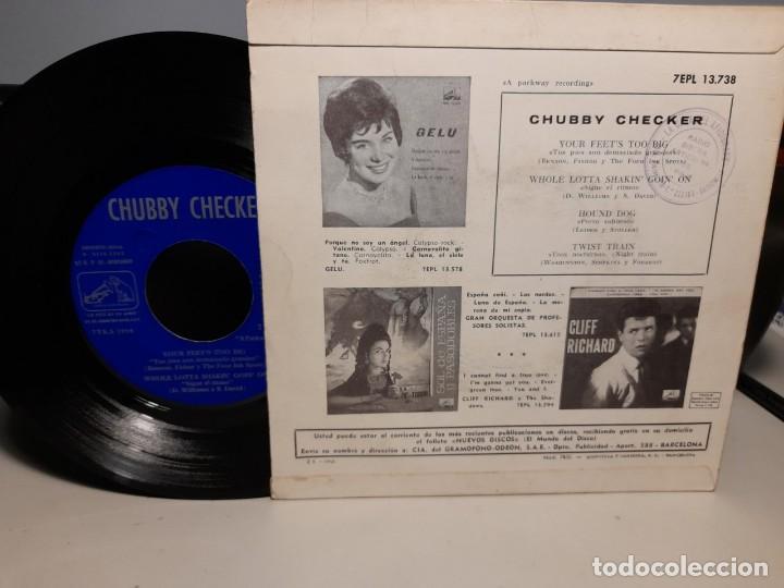 Discos de vinilo: EP CHUBBY CHECKER ( EL REY DEL TWIST ) : YOUR FEETS TOO BIG + 3 - Foto 2 - 268978394