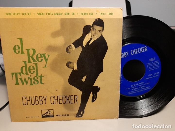 EP CHUBBY CHECKER ( EL REY DEL TWIST ) : YOUR FEETS TOO BIG + 3 (Música - Discos de Vinilo - EPs - Funk, Soul y Black Music)