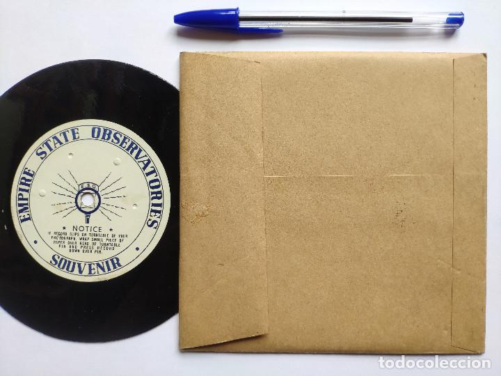 Discos de vinilo: Orig. EMPIRE STATE OBSERVATORIES SOUVENIR * USA * GRABACION DE RECUERDO DE 1946 - Foto 2 - 268979049