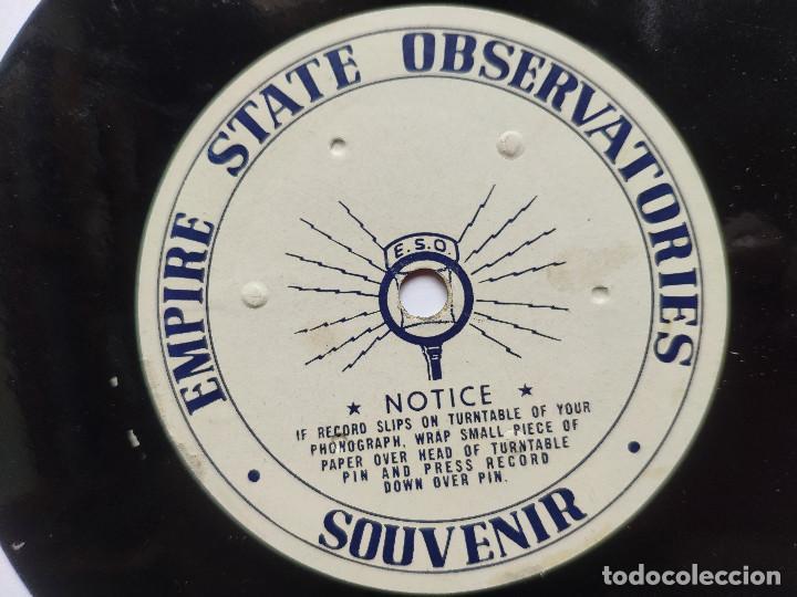 Discos de vinilo: Orig. EMPIRE STATE OBSERVATORIES SOUVENIR * USA * GRABACION DE RECUERDO DE 1946 - Foto 4 - 268979049