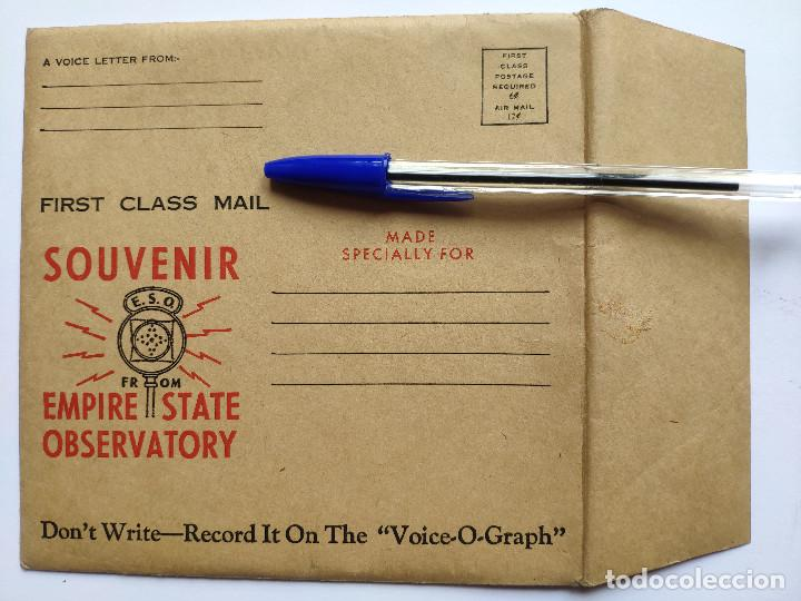 Discos de vinilo: Orig. EMPIRE STATE OBSERVATORIES SOUVENIR * USA * GRABACION DE RECUERDO DE 1946 - Foto 8 - 268979049