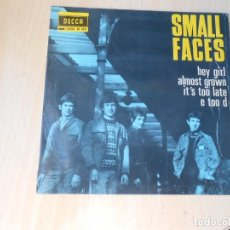 Dischi in vinile: SMALL FACES, EP, HEY GIRL + 3, AÑO 1966. Lote 268980379