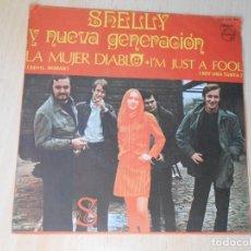 Discos de vinilo: SHELLY Y NUEVA GENERACION, SG, LA MUJER DIABLO (DEVIL WOMAN) + 1, AÑO 1968. Lote 268981254