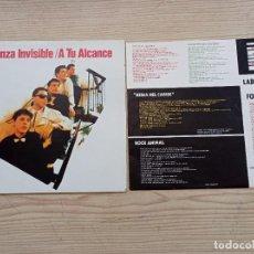 Discos de vinilo: DANZA INVISIBLE - A TU ALCANCE LP. Lote 268981994