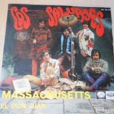 Discos de vinilo: SALVAJES, LOS, SG, MASACHUSETTS + 1, AÑO 1967. Lote 268982619