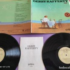 Discos de vinilo: JOYA . DOBLE LP. GERRY RAFFERTY, GUIMBARDA RECORDS,TRASATLANTIC DD 22003/4, SPAIN 1978 + LIBRETO.. Lote 268983694