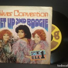 Discos de vinilo: SILVER CONVENTION – GET UP AND BOOGIE SINGLE 1976 PEPETO. Lote 268997549
