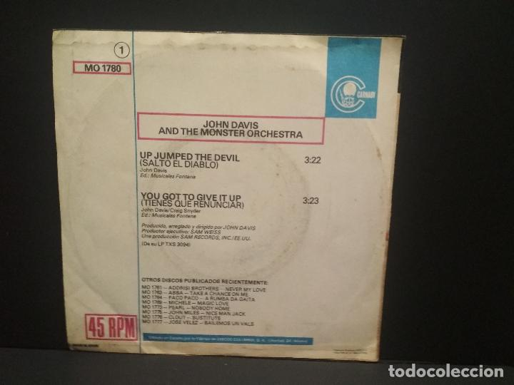 Discos de vinilo: JOHN DAVIS & THE MONSTER ORCHESTRA - UP JUMPED THE DEVIL - SINGLE CARNABY PROMO 1978 PEPETO - Foto 2 - 268997924