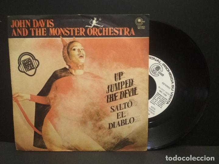 JOHN DAVIS & THE MONSTER ORCHESTRA - UP JUMPED THE DEVIL - SINGLE CARNABY PROMO 1978 PEPETO (Música - Discos - Singles Vinilo - Funk, Soul y Black Music)
