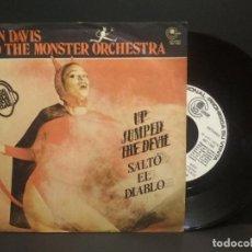 Discos de vinilo: JOHN DAVIS & THE MONSTER ORCHESTRA - UP JUMPED THE DEVIL - SINGLE CARNABY PROMO 1978 PEPETO. Lote 268997924