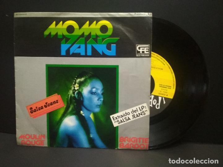 MOMO YANG SINGLE POPLANDIA 1978 MOULIN ROUGE / BRIGITTE BARDOT FUNK SOUL ITALIA DISCO PEPETO (Música - Discos - Singles Vinilo - Funk, Soul y Black Music)