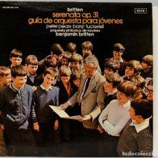 Discos de vinilo: LP. BRITTEN. SERENATA OP. 31. GUIA DE ORQUESTA PARA JOVENES. Lote 268999794