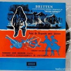 Discos de vinilo: LP. BRITTEN. CUATRO INTERMEDIOS MARINOS Y PASSACAGLIA. Lote 268999909