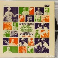 Discos de vinilo: LP. BRITTEN. SINFONIA DA REQUIEM PARA VIOLONCELLO. Lote 268999969