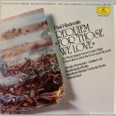 Discos de vinilo: LP. HINDEMITH. REQUIEM FOR THOSE WE LOVE. Lote 269000134