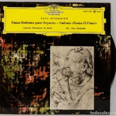 Discos de vinilo: LP. HINDEMITH. DANZA SINFONICA PARA ORQUESTA. MATIAS PINTOR. Lote 269000254