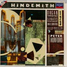 Discos de vinilo: LP. HINDEMITH. ORGAN SONATES. Lote 269000284