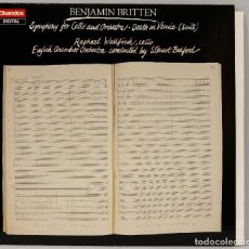 Discos de vinilo: LP. BRITTEN. SYMPHONY FOR CELLO AND ORCHESTRA. DEATH IN VENICE. Lote 269000389
