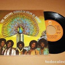 Discos de vinilo: THE JACKSONS - ECHALE LA CULPA AL BOOGIE (BLAME IT ON THE BOOGIE) - SINGLE - 1979 - NUEVO. Lote 225393940