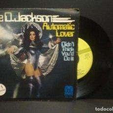 Discos de vinilo: DEE D. JACKSON - AUTOMATIC LOVER / DIDN'T THINK YOU DO IT (SINGLE ESPAÑOL, SAUCE 1978) PEPETO. Lote 269000614