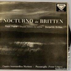 Discos de vinilo: LP. NOCTURNO DE BRITTEN. Lote 269000879