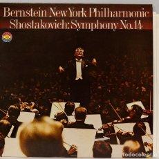 Discos de vinilo: LP. BERNSTEIN. SHOSTAKOVICH. SYMPHONY N 14. Lote 269001074