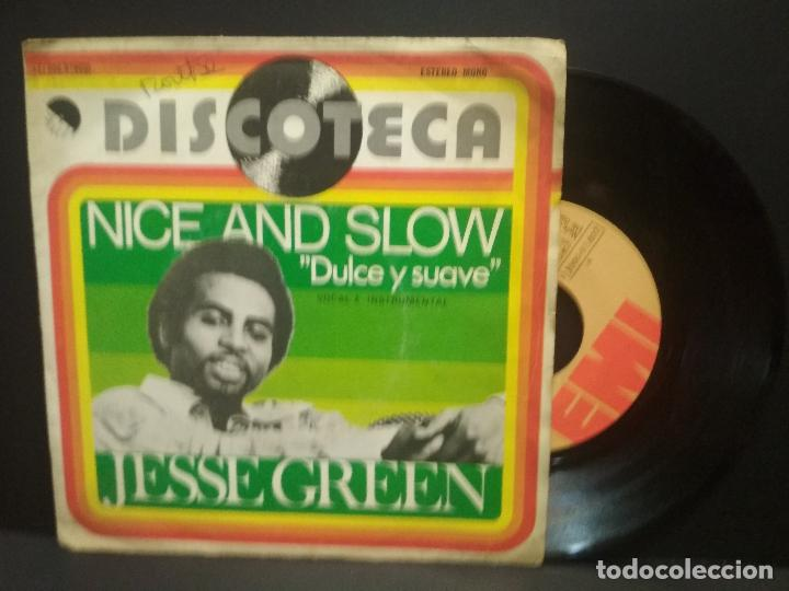 JESSE GREEN - NICE AND SLOW (DULCE Y SUAVE) /NICE AND SLOW (INSTRUMENTAL)1.976. EMI PEPETO (Música - Discos - Singles Vinilo - Funk, Soul y Black Music)
