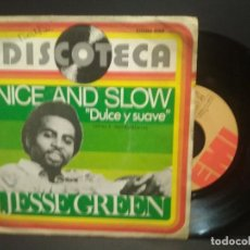 Discos de vinilo: JESSE GREEN - NICE AND SLOW (DULCE Y SUAVE) /NICE AND SLOW (INSTRUMENTAL)1.976. EMI PEPETO. Lote 269001254