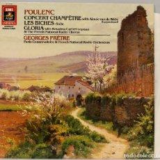 Discos de vinilo: LP. POULENC. CONCERT CHAMPETRE. LES BICHES. GLORIA. Lote 269001549