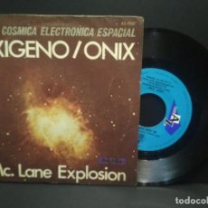 Discos de vinilo: SINGLE - MC LANE EXPLOSION - OXIGENO / ONIX - SERIE CÓSMICA ESPACIAL - HISPAVOX 1977- PEPETO. Lote 269001919