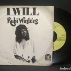 Discos de vinilo: RUBI WINTERS - I WILL (SAUCE) SINGLE ESPAÑA 1978 PEPETO. Lote 269002334
