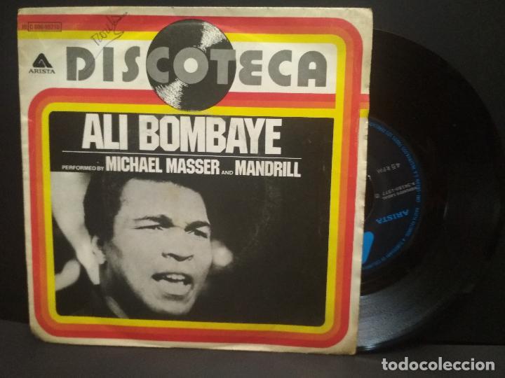 ALI BOMBAYE, MICHAEL MASSER AND MANDRILL 1977 SINGLE ARISTA PEPETO (Música - Discos - Singles Vinilo - Funk, Soul y Black Music)