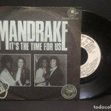 Discos de vinilo: MANDRAKE / IT'S THE TIME FOR US / DISOC MAGIC (SINGLE 1977 PROMO ) PEPETO. Lote 269003184