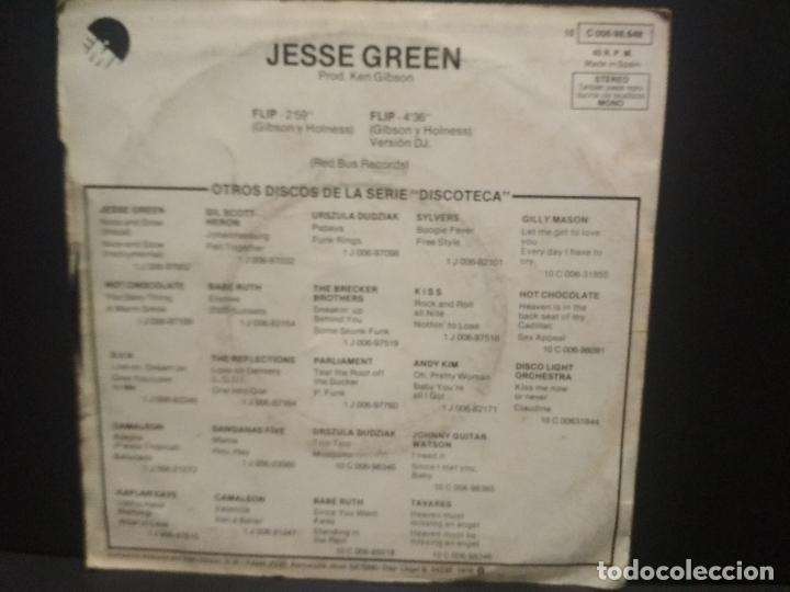 Discos de vinilo: JESSE GREEN (Single 1976) FLIP PARTES 1 Y 2 (DISCOTECA) PEPETO - Foto 2 - 269003454