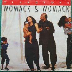 "Discos de vinilo: WOMACK & WOMACK - TEARDROPS (12"") (ISLAND RECORDS). Lote 269033729"