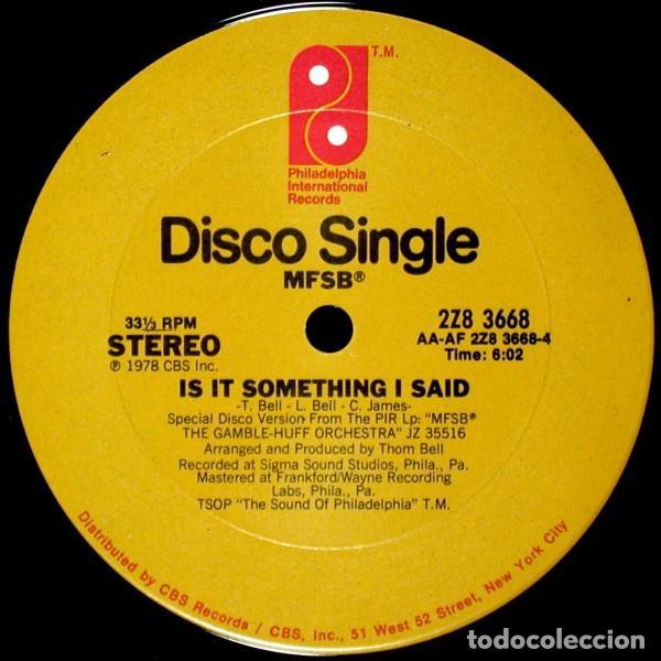 "Discos de vinilo: MFSB - Dance With Me Tonight (12"") (1978/US) - Foto 3 - 269036369"