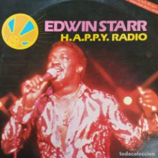 "Discos de vinilo: EDWIN STARR - H.A.P.P.Y. RADIO (EXTENDED DISCO VERSION) (12"", ROJO) (1979/UK). Lote 269036529"