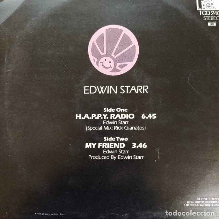 "Discos de vinilo: Edwin Starr - H.A.P.P.Y. Radio (Extended Disco Version) (12"", Rojo) (1979/UK) - Foto 3 - 269036529"