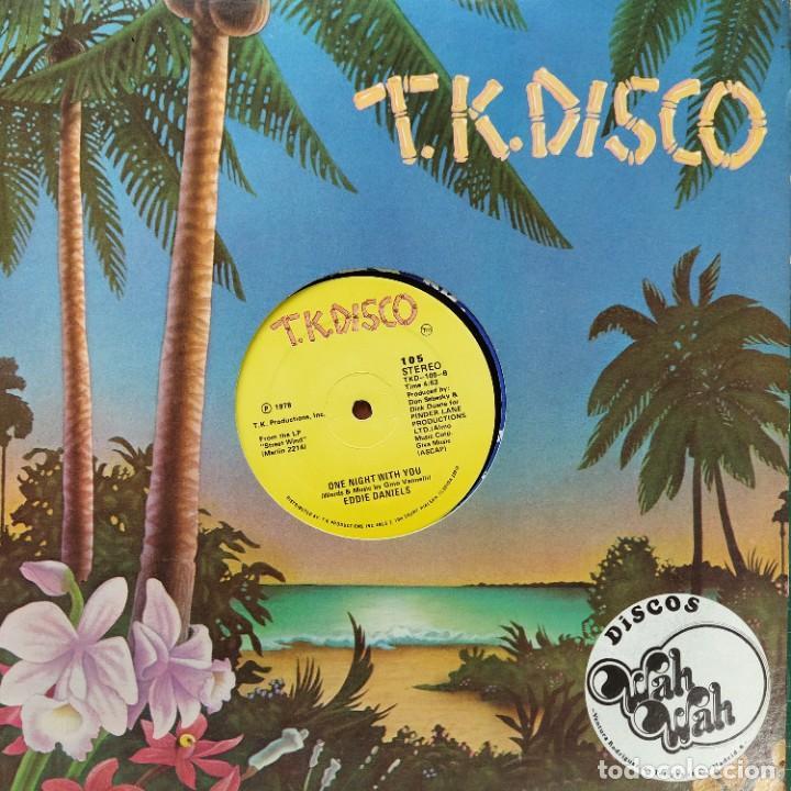 "EDDIE DANIELS - I GO TO RIO / ONE NIGHT WITH YOU (12"") SELLO:T.K. DISCO CAT. Nº: 105 ESTADO DEL SOPO (Música - Discos de Vinilo - Maxi Singles - Funk, Soul y Black Music)"