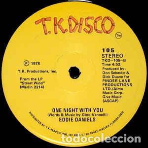 """Discos de vinilo: Eddie Daniels - I Go To Rio / One Night With You (12"""") Sello:T.K. Disco Cat. nº: 105 Estado del sopo - Foto 2 - 269037409"""