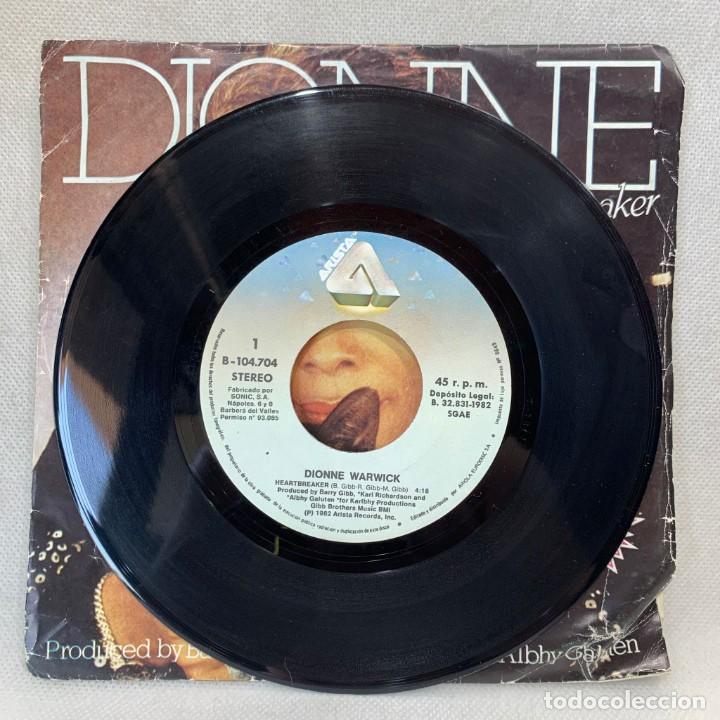 Discos de vinilo: SINGLE DIONNE - HEARTBREAKER - ESPAÑA - AÑO 1982 - Foto 2 - 269043768