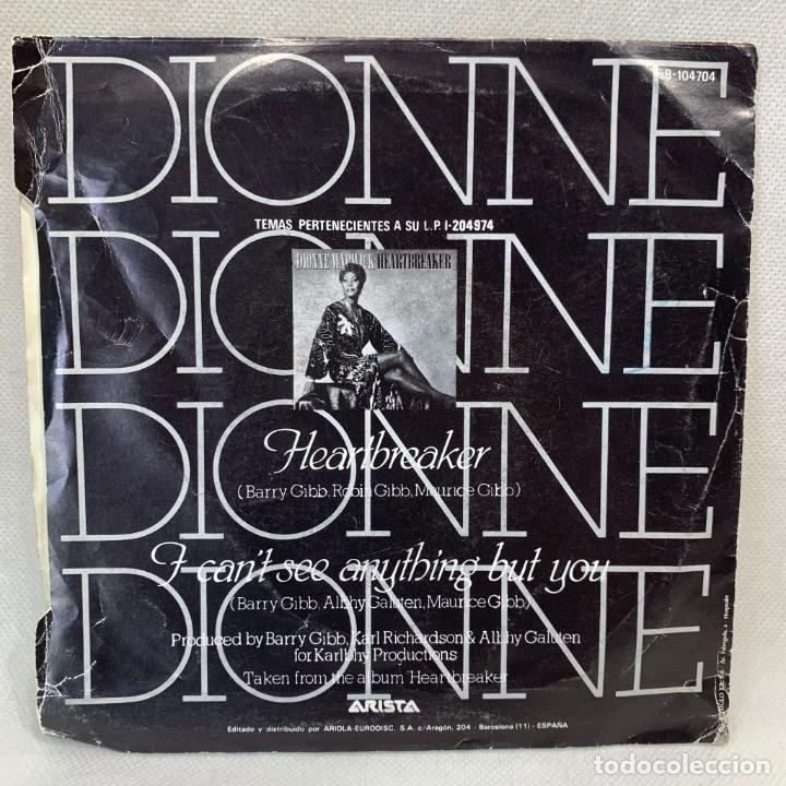 Discos de vinilo: SINGLE DIONNE - HEARTBREAKER - ESPAÑA - AÑO 1982 - Foto 4 - 269043768