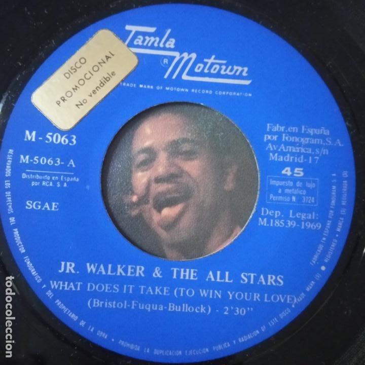 Discos de vinilo: JR. WALKER- WHAT DOES IT TAKE( TO WIN YOUR LOVE) - SPAIN SINGLE PROMO 1969- VINILO EXC. ESTADO. - Foto 2 - 269043928